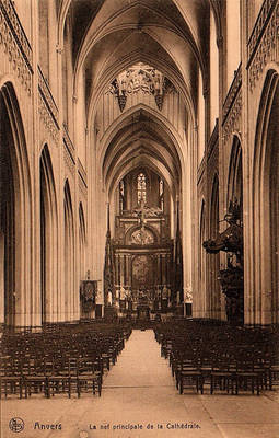 Vintage Europe - Cathedral of Our Lady,  Antwerp
