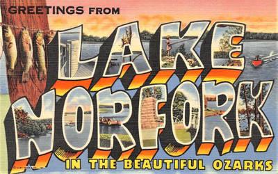 Large Letter Postcard - Norfork Lake