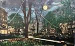 Night Scene Postcards - Gore Park, Hamilton