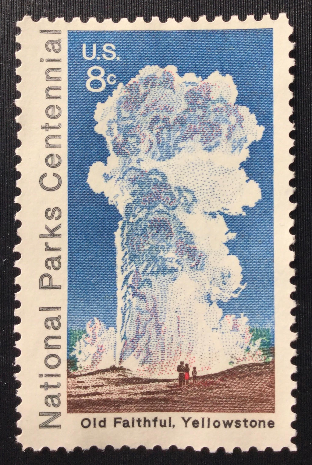POSTAGE STAMPS -MINT CONDITION 2 U.S YELLOWSTONE NATIONAL PARK OLD FAITHFUL