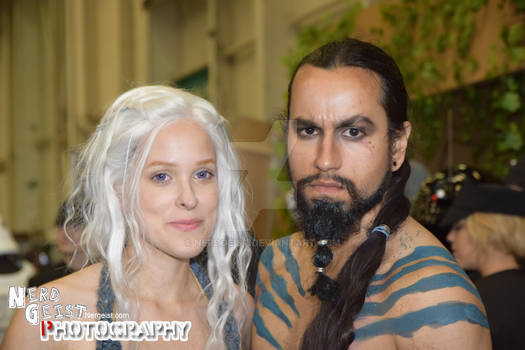 Khaleesi and Drogo cosplay from Game of Thrones