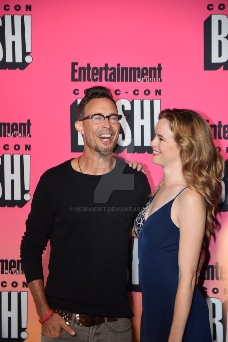 Tom Cavanagh and Danielle Panabaker at EW Party by Nerdgeist
