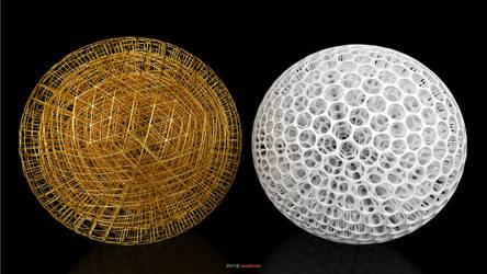 Voronoi 3D - Delaunay 3D Sphere (131-C)