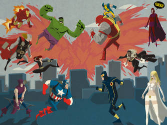 Avengers vs X-Men by JoseRealArt