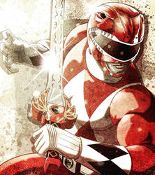 Red Ranger by JoseRealArt