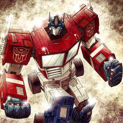 Optimus Prime by JoseRealArt
