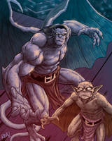Goliath and Lexington by JoseRealArt
