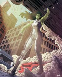She Hulk by JoseRealArt