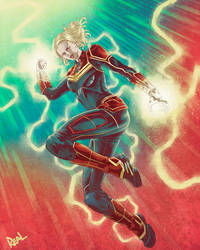 Captain Marvel by JoseRealArt