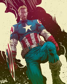 Captain America by JoseRealArt