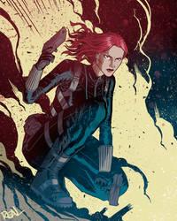 Black Widow by JoseRealArt