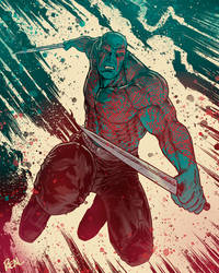 Drax the destroyer by JoseRealArt