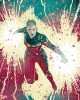 Captain Marvel by JoseRealArt
