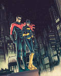 Batgirl and Nightwing