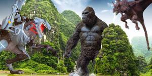 King Kong Legendary vs Cyber Godzilla vs Bagorah