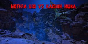 Aqua Mothra vs Kaishin Muba