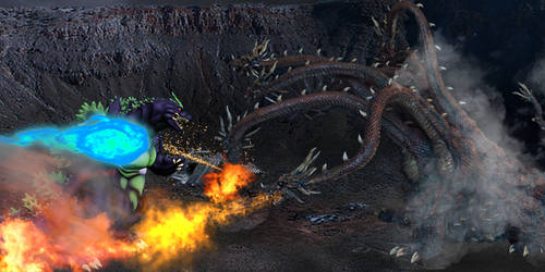 Godzilla (Heisei) vs Orochi - Round 2 Image 2