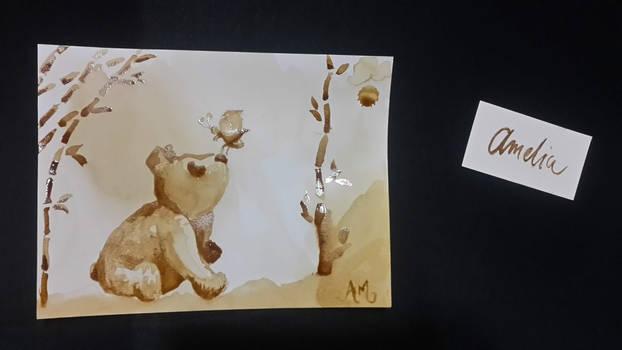 Panda Coffee Painting