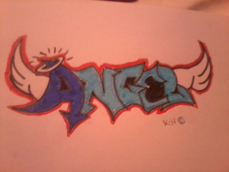 graffiti angel by karlijnlovesart
