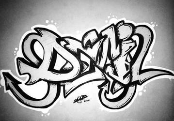 Graffiti ''Devil'' by Stijn B.