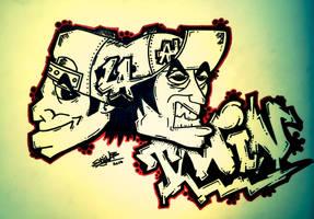 Twin Graffiti Style by Stijn B