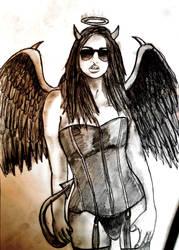 AngelDevil Girl by Stijn B