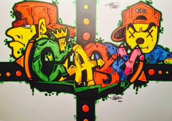 Classy Graffity Art Sketch by Stijn B.