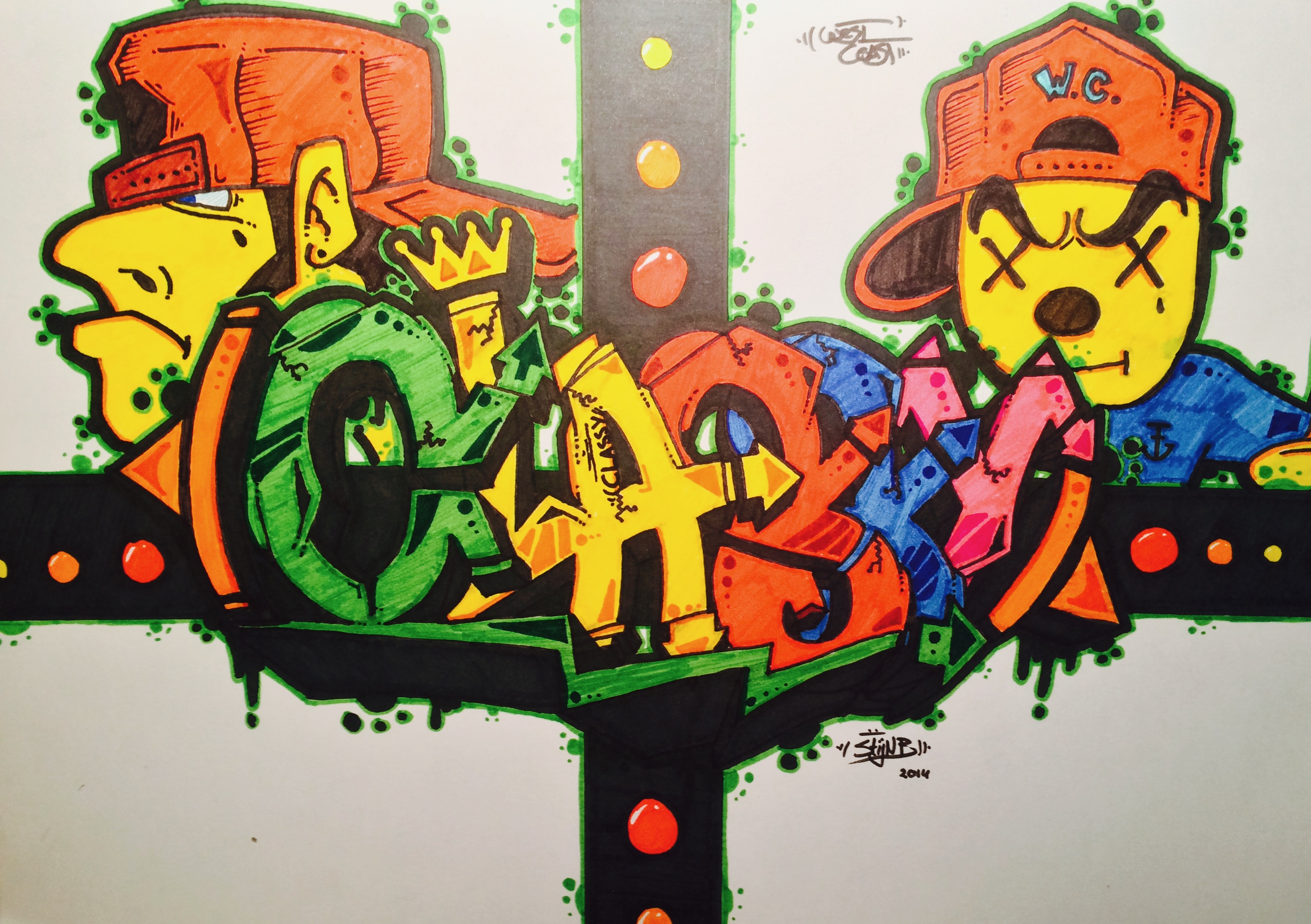 Classy Graffity Art Sketch by Stijn B. by StijnBes