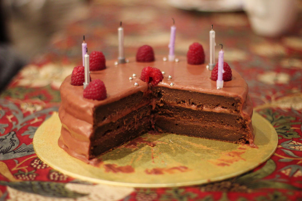 Chocolate Raspberry cake by UmYesPlease