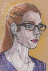 Glasses girl by sophiemartineau