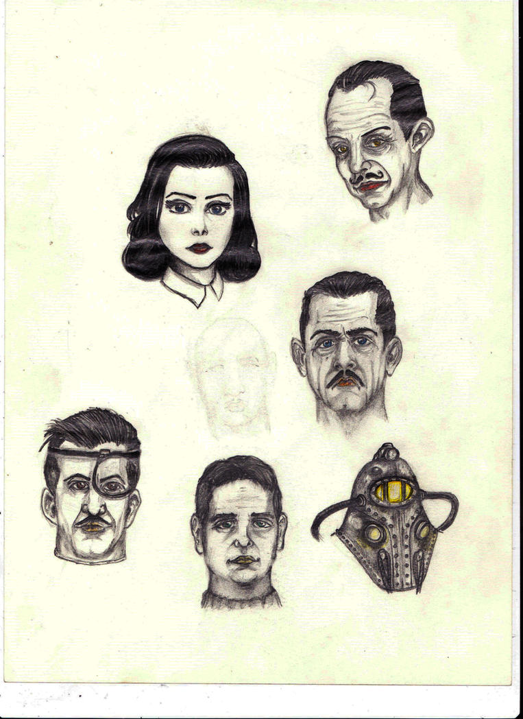Well known faces of the deep blue sea by DaRkScArEcRoWs