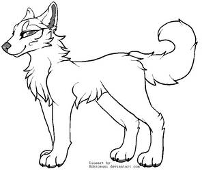Another Free Canine Lineart