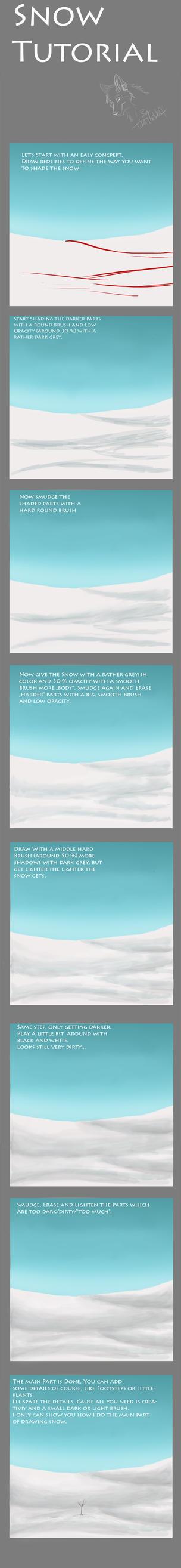 Snow Tutorial by TukaTheWolf