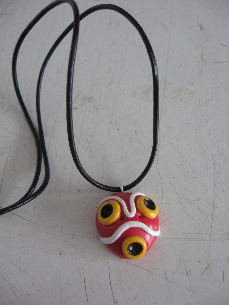Mononoke Mask charm necklace by assassin-kitty