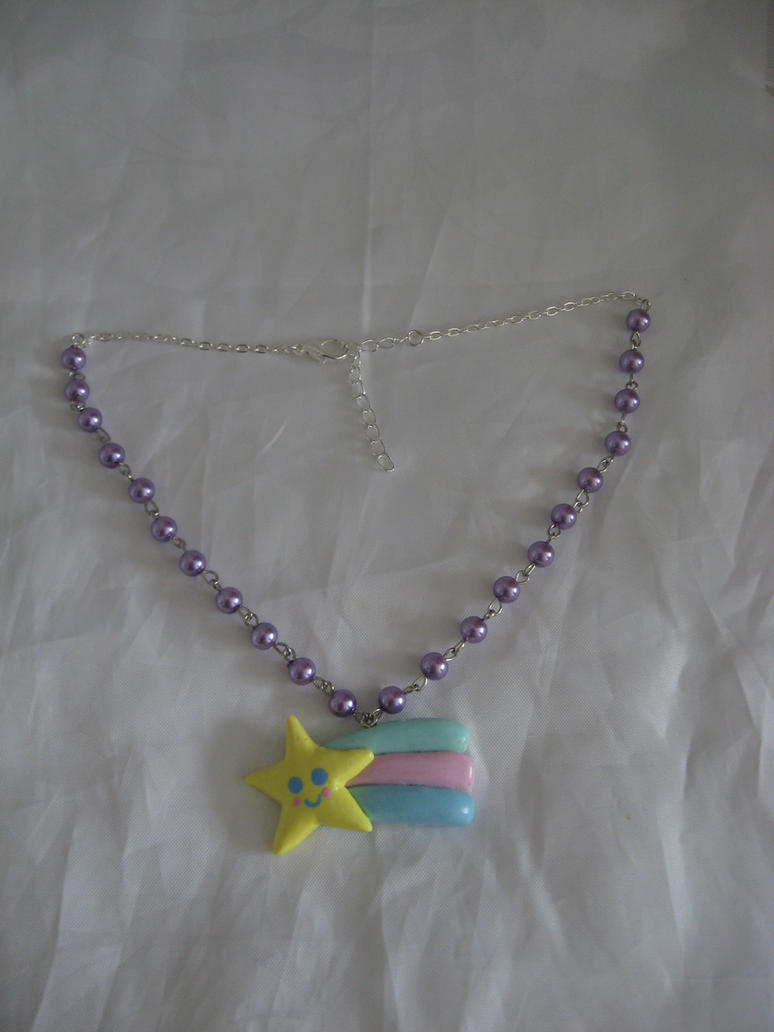 Shooting star necklace by assassin-kitty