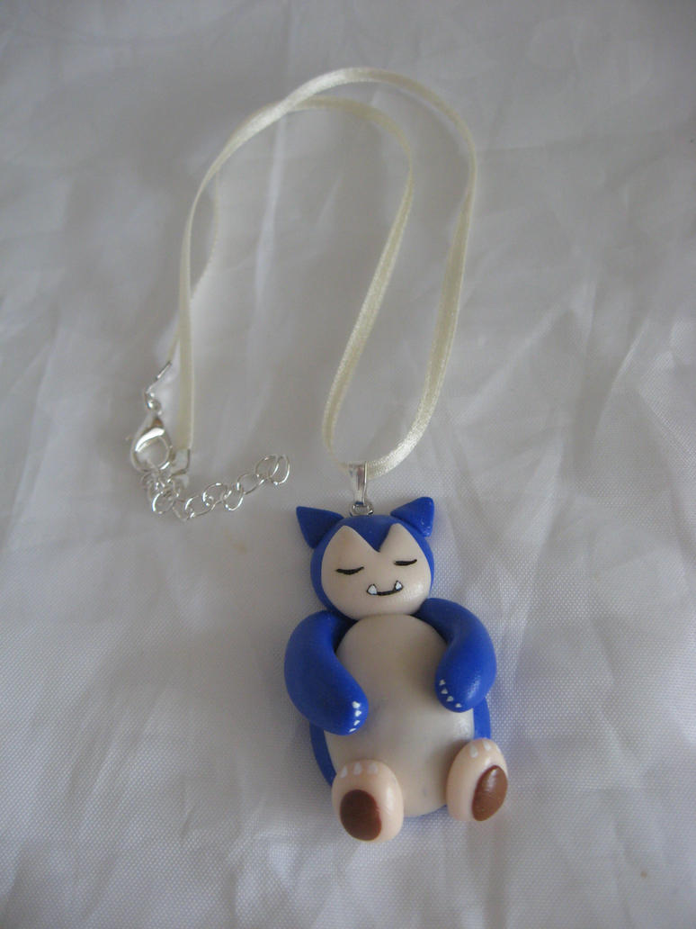 Snorlax Charm necklace by assassin-kitty