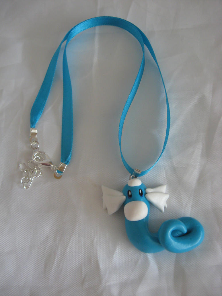 Dratini Charm necklace by assassin-kitty