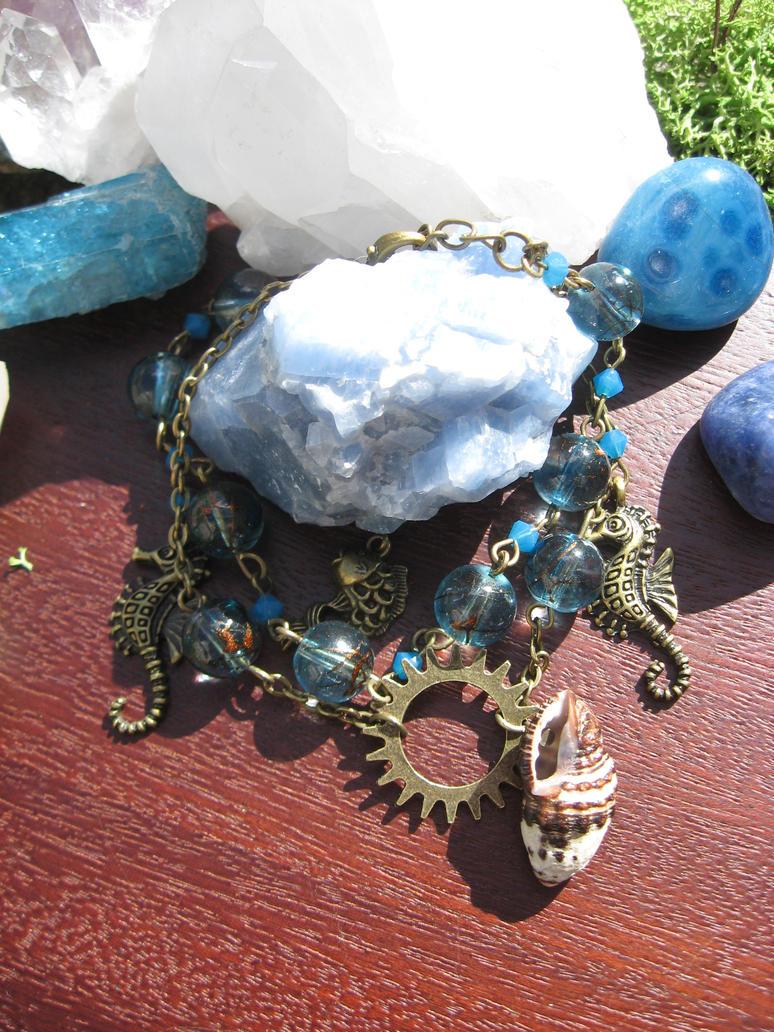 Mermaids treasure steampunk bracelet by assassin-kitty
