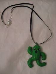 Cactuar charm necklace