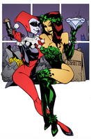 Harley Quinn and Poison Ivy by Jason Pearson by DrDoom1081