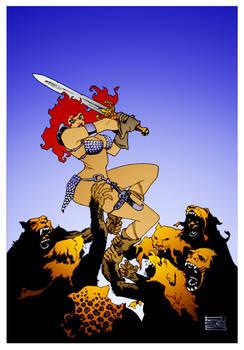 Red Sonja Savage Cover by Eduardo Risso