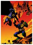 Bat v Dredd by Mike Mignola