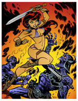 Red Sonja 4 by Bruce Timm by DrDoom1081