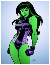 She-Hulk by Bruce Timm by DrDoom1081