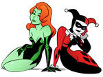 Harley and Ivy by Bruce Timm by DrDoom1081