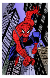 Here Comes the Spider-Man by Bruce Timm by DrDoom1081