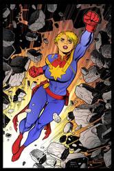 Captain Marvel by Arthur Adams by DrDoom1081