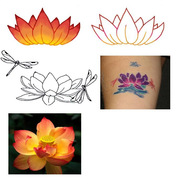 Lotus And Dragonfly Tattoo By Hieilonewolf On Deviantart