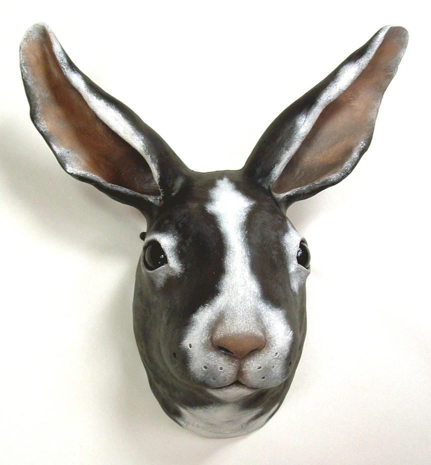Horacio Rabbit clay mask by anubistj