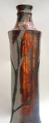 Tall Raku Bottle pottery by anubistj